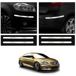 Buy Trigcars Maruti Suzuki Ciaz Car Chrome Bumper Scratch Potection Guard Online @ ₹355 from
