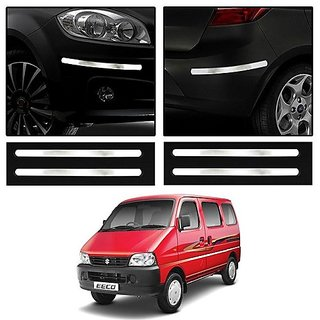 Trigcars Maruti Suzuki EECO Car Chrome Bumper Scratch Potection Guard