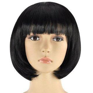 Tahiro Natural Black Human Hair Bob Cut Wig For Ladies - Pack Of 1