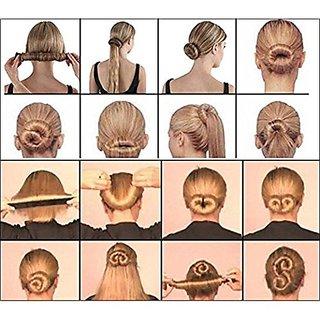 Nerr Women 1 Pc Girls Perfect Hair Bun Making Styling French Twist Donut Bun Hairstyle Tool