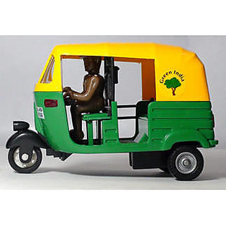 CNG Auto Rickshaw Pull Back Action Toy