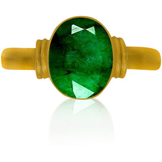 Emerald(Panna) adjustable ring Top Quality Emerald(Panna) Certified Natural Rashi Ratan Gemstone