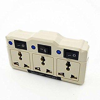Multifunction independent switch Splitter 3 jacks 3way outlet extend plug socket