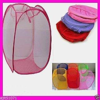 Foldable Laundry Bag basket folding clothes storage toy bags SET OF 3