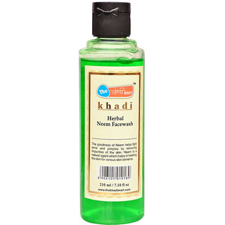 Khadi Mart Herbal Neem Face Wash - 210ml