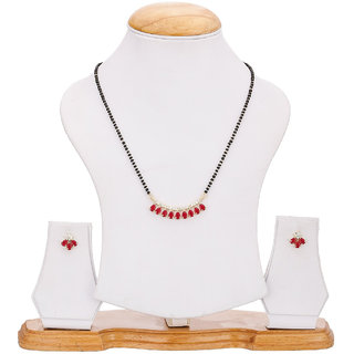 Bhagya Lakshmi Women's Pride Handicrafted Mangalsutra With Earrings  For Women