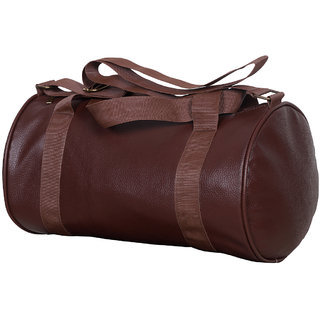 Dee Mannequin Brown Leatherite Gym Bag