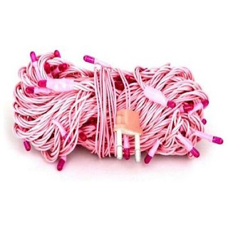 30 Feet - 9M Rice Light Decoration Lighting for Diwali, Christmas - Pink Color