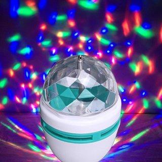 Decoretive LED Bulb Multicolor Disco Type Rainbow Flow