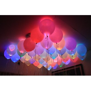 LED Balloons for Party Festival Diwali Christmas New Years Celebrations- 25 pcs