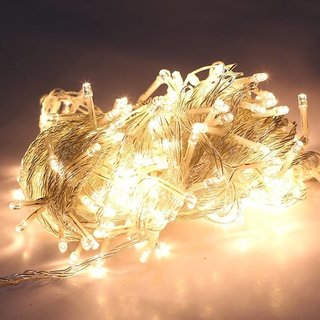 Emm Emm 360 inch (30 Feet) Premium LED Gold Warm White Rice Lights  (Pack of 1) Led Ladi/String