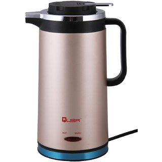 Quba Double Insulated Stainless Steel Gold Body 1500 Watt With Auto On - Off 1.8 Liter 7711 Gold Electric Kettle
