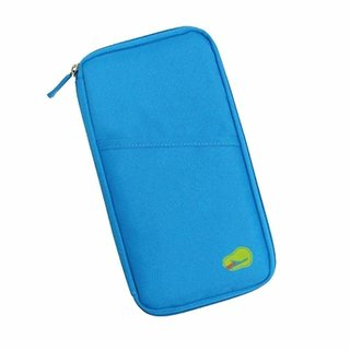 57bbea9fd892 Travel Passport Organizer By House of Quirk Document Holder - Sky Blue