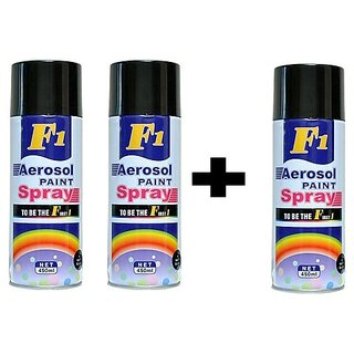 Buy Buy 2 Get 1 FREE F1 Aerosol spray paint matt Black For