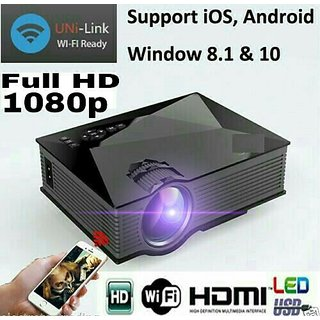 WIFI 1080p HD video Projector with HDMI/VGA/USB/SD/AV/DLNA/MIRACAST support