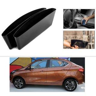 AutoStark 2 Car Seat Gap Slit Pocket Storage Catch Catcher Box Organizer Holder Box For TATA Tigor