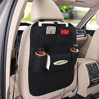 Designer Car Back Organiser, One Piece - Multicolor