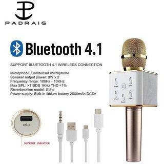 Professional Q7 Karaoke Mic Bluetooth Speaker Microphone Sing Recording
