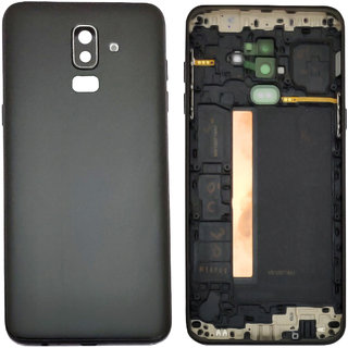 New Housing Body Panel With Camera Lens For Samsung Galaxy J8 (SM-J810G/DS) - Black Color