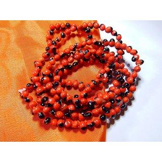 Natural Lal Gunja Mala for Pooja Healing Japa 108 Chirmi beads