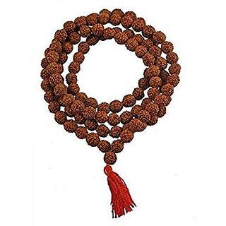 100 Original Lab-Certified Natural 5 Mukhi Rudraksha Mala(Rosary) for all Rashis /Japa Mala - 108+1 (7-9 mm)