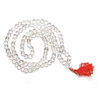 Original Sphatik (Quartz Crystal) Mala Roasary 108+1 Bead 7-8mm