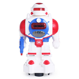 ShopMeFast Bump  Go Smart Robot Disk Shot With Light And Sound Toy For Kids