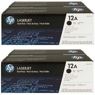 HP 12A Black Toner Cartridge Pack Of 4 Single Color Toner (Black)