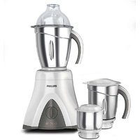 Philips HL7750/00 650 W Mixer Grinder(Ink Black And Bright White, 3 Jars)