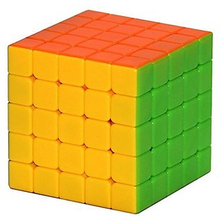 Kiditos Completely Stickerless 5X5X5 Wind Speed Rubik Cube Puzzle Train your brain