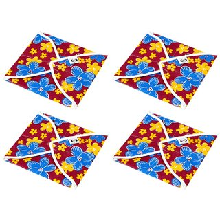 Snowpearl Cotton Roti Cover/ Chapati Cover/ Roti Rumals Set of 4 Pcs (Assorted)