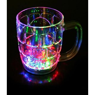 LED Colorful Flashing Light Up Glass Cup  Bar Party Club Wedding