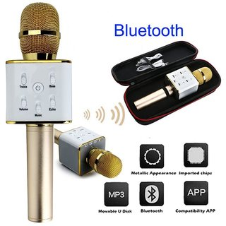 Bluetooth Karaoke Microphone Wireless Mic, MM Portable Handheld Singing Machine Condenser Microphones Mic