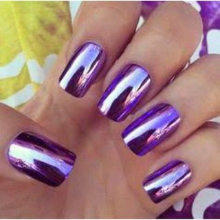 HB Glass Mirror Nail Paint - Purple color shade