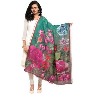 Swaron Women's Multi Colored Floral Digital Printed Mock Leno Dupatta