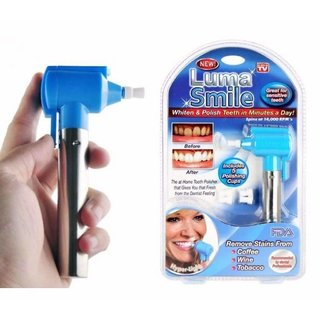 G-MTIN Luma Smile Tooth ORAL Polisher Whitener Stain Remover With LED Toothbrush Light Rubber Cups Power Tooth Brushes