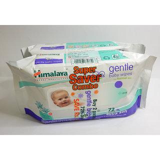 Himalaya Baby Wipes 72's x 2