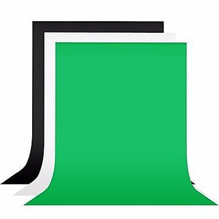 American Sia BRANDED 3PCS COMBO 8 x12 FT GREEN , BLACK , WHITE LEKERA BACKDROP PHOTO LIGHT STUDIO PHOTOGRAPHY BACKGROUND