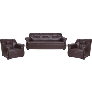 Earthwood - Wayman -Brown Sofa Set 3+1+1