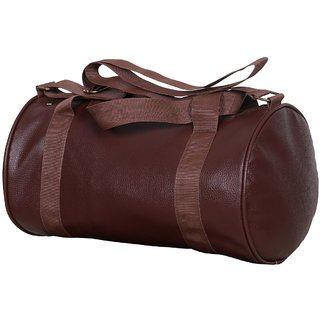CP Bigbasket Brown Leather Gym Bag (20L)