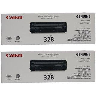 Canon 328 2-Pack Black Toner Cartridge