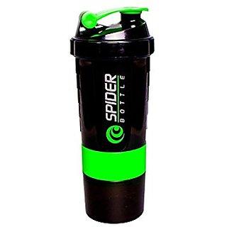 Spider Bottle Protein Shaker Sports Bottle Milk Shaker (1 PC, Green, 500ML)