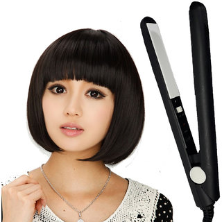 Professional Mini 18cm Solid Ceramic Travel Hair Straightener Beard Hair Flat Iron Salon Style Tool 18W
