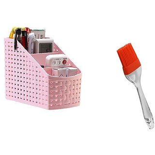 Plastic Utensils Holder For Kitchen Dining -Compartment For Spoons, Knives, Forks, Chopsticks Shakers. with Silicon Oi