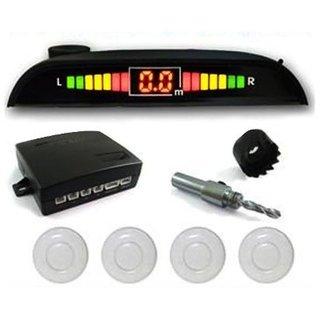 White Car Parking Sensor System for All Cars