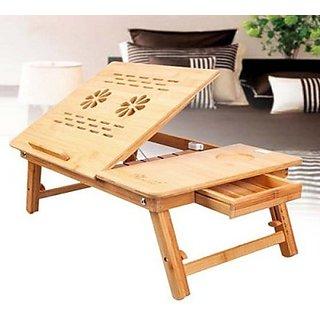 Skyshop - Elite Mkt Solid Wood Portable Laptop Table (Finish Color - Brown)