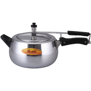 Quba Aluminium Contoura Shape With Front Handle For Extra Grip 5 Liter Pressure Cooker with Induction Bottom