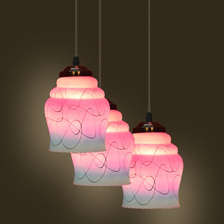 Somil Pandent Hanging Ceiling Lamp (Three Lamp) Colorful & Decorative