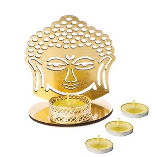 CREW4 Lord of Buddha Shadow Decorating Diya Tealight Candle Holder