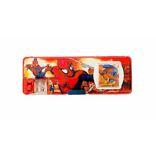 EREIN Multipurpose Pencil Box with Calculator  Dual Sharpner (Spiderman)